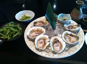 Famous dish of Wellington : Bluff Oysters