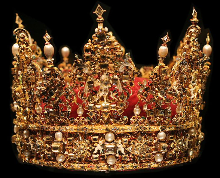 crowns of the king at Rosenborg Castle