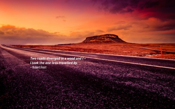 Travel Quote - Robert Frost